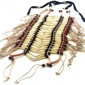 Handmade Large Traditional Buffalo Bone Hairpipe Beads Tribal Breastplate