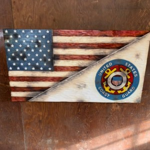 Split American and Coast Guard Flag