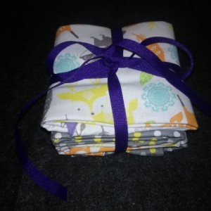 Bambi and Little Fox Burp Cloths