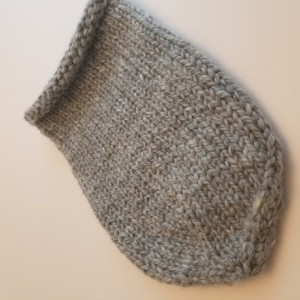 Hand Knitted Baby Cocoon - Heather Blue
