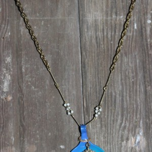 French Blue necklace and charm