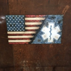 Split American and EMS Flag