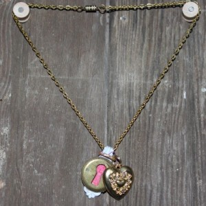 """ Key to my heart"" charm and necklace"