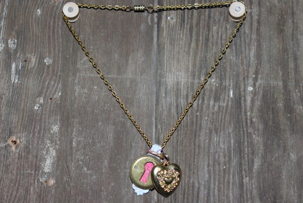 """"""" Key to my heart"""" charm and necklace"""