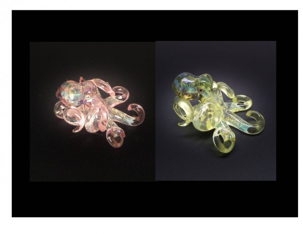 The Serum  Kracken Collectible Wearable  Boro Glass Octopus Necklace / Sculpture Made to Order