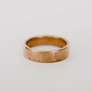 Forged Rustic Wedding Ring, Aluminum Bronze Band, Unique, Minimalist, Handmade, Gold Colored Ring, Simple, Men's Wedding Band, Forged Ring