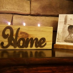 Reclaimed wood tealight candle holder