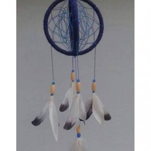 Quad Orb Dream Catcher with Goose Feathers