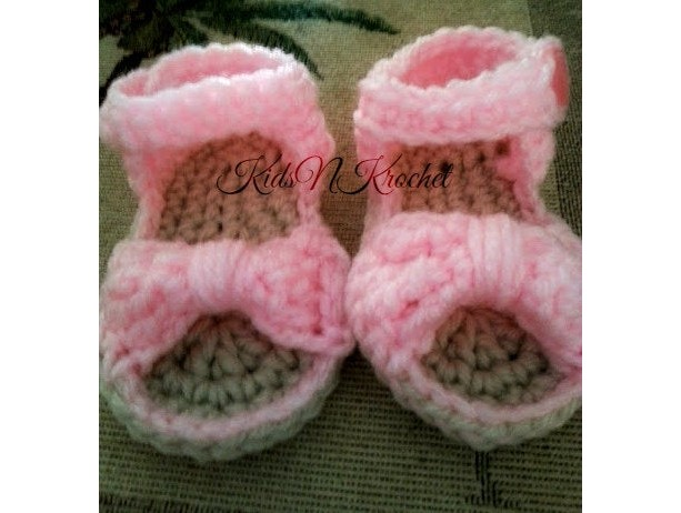 Bow baby booties / Bow Sandals / Baby flip flops