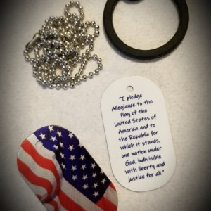 Military Dog Tag Necklace – Pledge Allegiance To The Flag