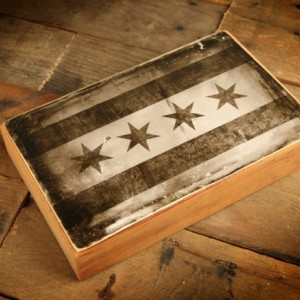 The Chicago Flag Reclaimed Wood Block Print