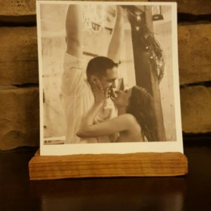 Picture holder, frame, picture stand, reclaimed wood