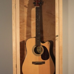 Acoustic Guitar Display Case, wall mount