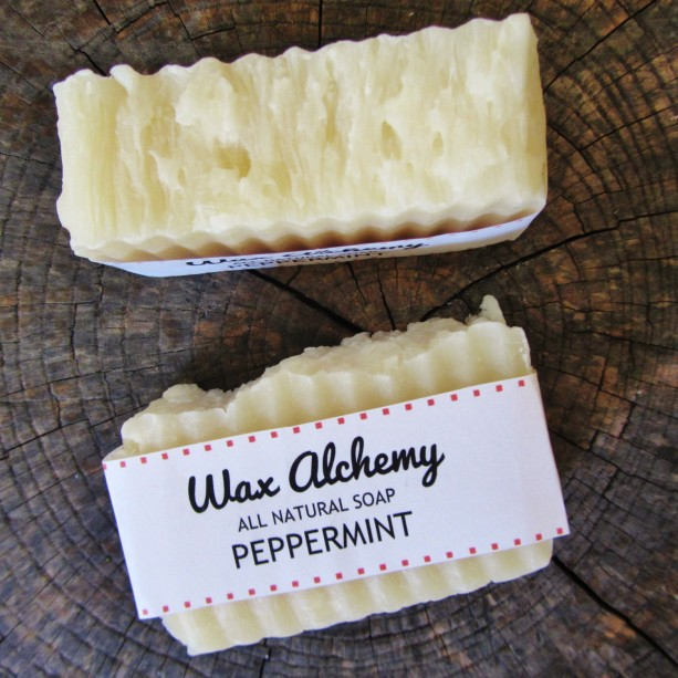 Peppermint All Natural Soap / Two 5 oz Bars