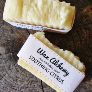 Soothing Citrus All Natural Soap / Two 5 oz Bars