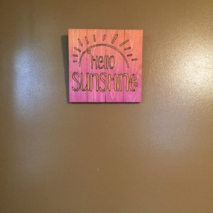 Hello Sunshine Wall Hanging Made From Repurposed Pallet Wood