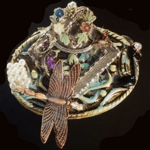 Dragonfly Collage Brooch