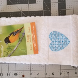 Cross-stitch hand towel