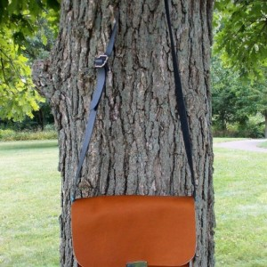 Leather bag, or leather tote with internal pocket and key hook, with adjustable cross body strap, Leather purse