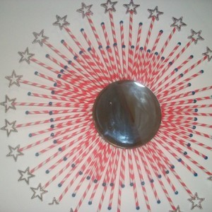 Creative Red and White Star Burst