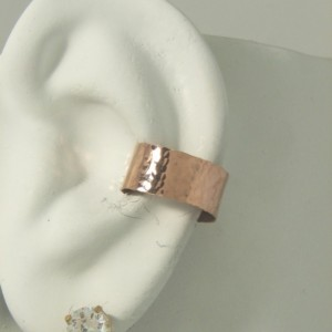 POST Conch Pierced Cartilage Earring ROSE Gold Body PIercing Cartilage Hoop Body Jewelry Hammered Ear Cuff Piercing Middle Ear E1RGFHMPOST