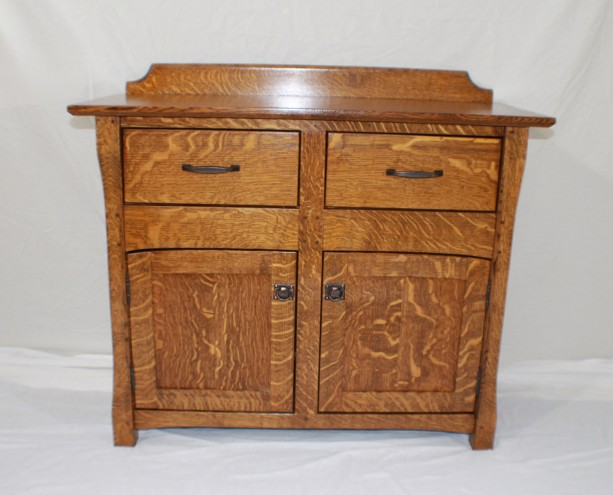 TV Stand/Credenza with two Hidden compartments, Arts and Crafts, Stickley style