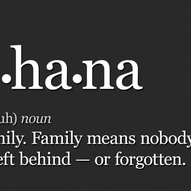"Meaning Of Family Quotes: ""Ohana Means Family"" 8x10 Art Print"