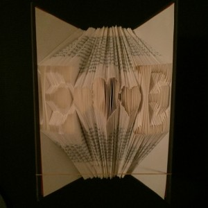 Lover's Name Initials with the Heart in the Middle / Book Folding