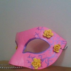 """Yellow Rose"" Cosplay/Masquerade Mask"