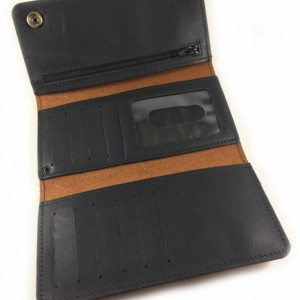 Mens Deluxe Trifold Wallet,Mature, Bad Mother F*cker, Mens, Genuine Leather,USA,Snaps,Mens Leather Wallet Trifold,Phone Carrier,Black,Brown