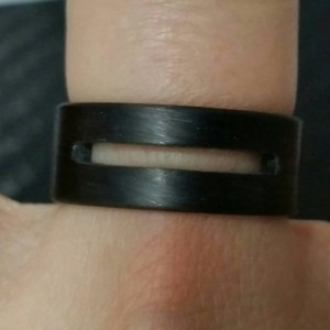 Carbon Fiber Unidirectional Ring with a Modern Cutout