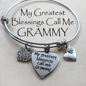 My Greatest Blessings Call Me Grammy Stainless Steel Bangle