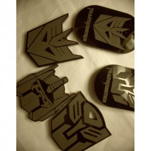 Transformer charms, Optimus Prime, laser cut charms