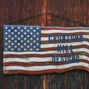 Medium Personalized American Flag