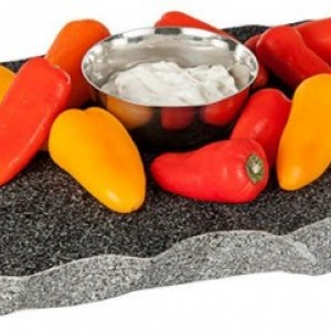 Sea Stones Chillable Serving Tray, Freezer to Table, Keep Appetizers Cold, Server