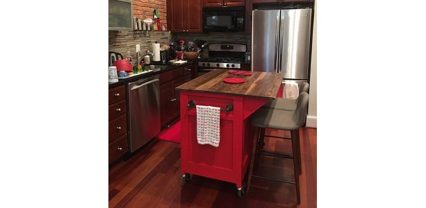 Customizable, Kitchen Island, Kitchen Storage, rolling island, Seating, kitchen island on wheels, kitchen cabinet, spice rack, spice holder
