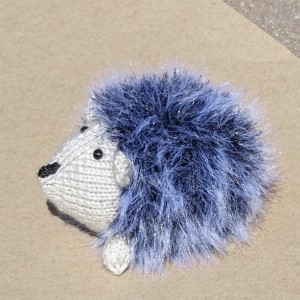 Hedgehog, Hand Knitted Toy, Knit Hedgehog, Stuffed Animal, Grey Toy, Ready to Ship
