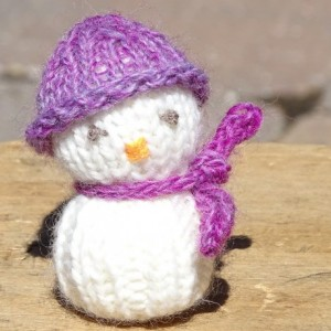Snowman, Knitted Snowman, Winter Decor, Tree Ornament, Holiday