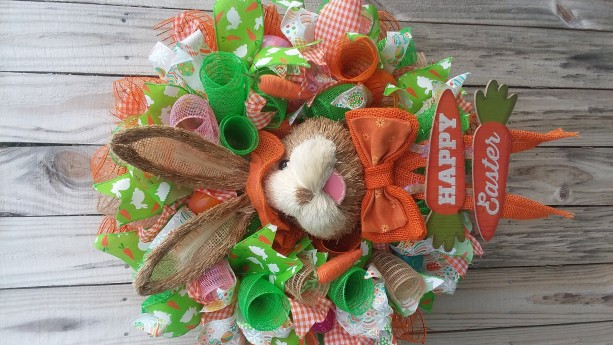 Spring Deco Mesh Door Wreath