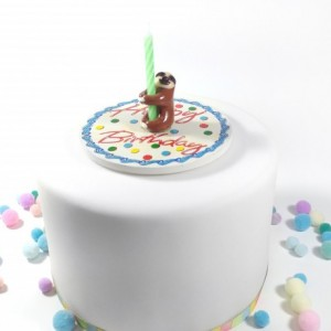 Sloth Birthday Candle Holder Cake Topper