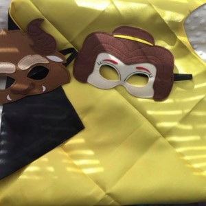 Beauty and the Beast Mask and Cape Set