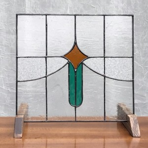 Shooting Star Stained Glass Panel