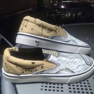Handpainted Electric Guitar Shoes