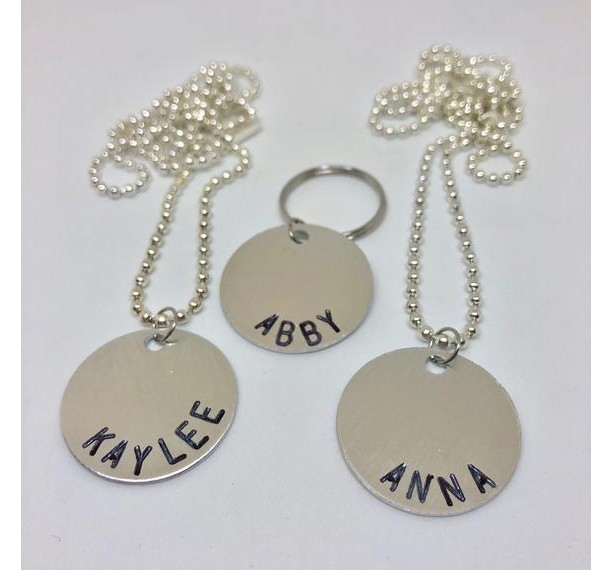 Personalized Metal Stamped Necklace