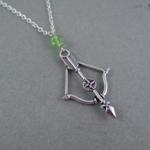 Silver Bow Necklace With Your Choice of Bead Color