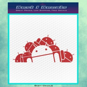 Android Army Computer Technology Decal Bumper Sticker