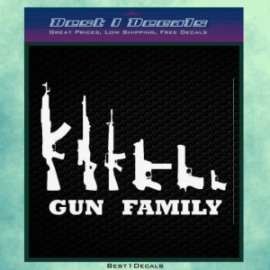 Gun Family Rifle Weapons Decal Bumper Sticker Iphone Ipad Accessory