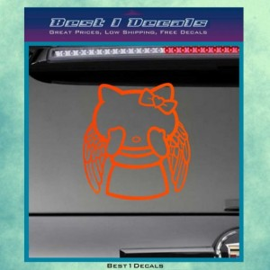 12 Inch Hello Kitty Doctor Who Weeping Decal Bumper Sticker