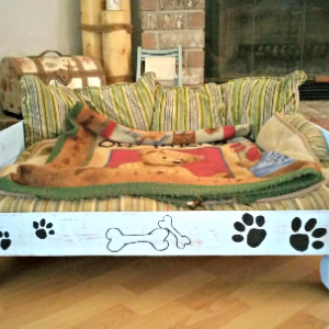 Handcrafted Reclaimed Wooden Pallet Dog Pet Bed