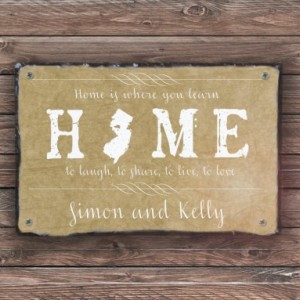 Home State Sign! Personalized Welcome Sign. Welcome To Our Home. Custom House Sign. Outdoor Sign. Wedding Gift. House Warming Gift.